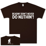 Brian Regan Readin T-Shirt - Brown