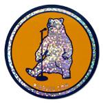 Birbigs! Standup Bear Sparkly Sticker