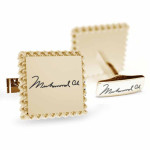 Muhammad Ali Signature Square Cufflinks - Gold Plated