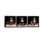"Muhammad Ali - Ali Vs. Sonny Liston Black Canvas 3 pc. Print 48"" x 16"""