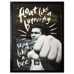 "Muhammad Ali ""Float Like a Butterfly"" Framed Wall Art with Postage Stamp"