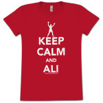 Muhammad Ali Keep Calm Ladies T-shirt