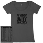Pat Metheny-Women's Unity Band World Tour 2012 Charcoal T-Shirt