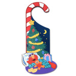 Elmo Holiday Door Hanger