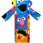 Sesame Characters Youth Fleece Throw with Sleeves