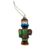 Cookie Monster Glass Nutcracker Ornament