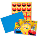 Sesame Street 1st Birthday Invitations