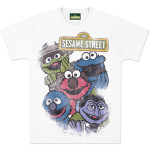 Sesame Gang Distressed T-Shirt