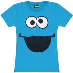 Cookie Monster Ladies Face T-Shirt