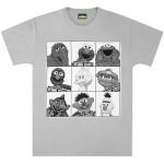 Sesame Street Gang Mug Shot T-shirt