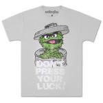 Oscar the Grouch Don't Press Luck T-Shirt