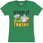Oscar the Grouch Keep It Trashy Juniors T-shirt