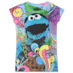 Sesame Street Cookie Monster Girls Sublimation Tee