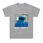 Cookie Monster More Cookies Girls Tee