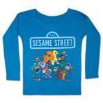 Sesame Street Group Longsleeve Girls Tee
