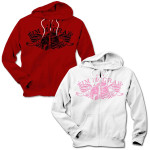 Tim McGraw Winged Hat Ladies Zip Hoodie