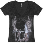 Tim McGraw Foiled Wings Ladies V-neck Tee