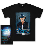 Tim McGraw Two Lanes of Freedom Tour T-shirt