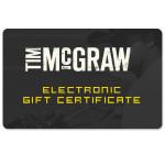 Tim McGraw Online Gift Certificate