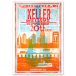 Keller Williams Louisville October 20th 2012 Poster of Guitar