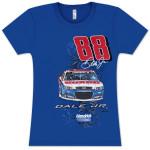 Dale Jr #88 National Guard Rocket Ladies T-shirt
