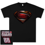 Dale Jr National Guard Superman T-shirt