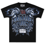 Dale Jr. - Mens Total Print Short Sleeve Black Tee