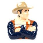 """John Wayne The Duke Ceramic Cookie Jar 10.5"""""""