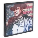 "John Wayne Patriot Canvas Wall Art 15""x15"""