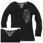 Kasey Kahne #5 Ladies Blackout Long Sleeve T-shirt