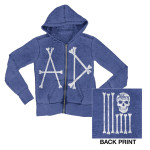 Royal Zip Hoodie