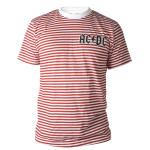 AC/DC Striped Crew Tee
