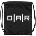 O.A.R. Black Drawstring Bag