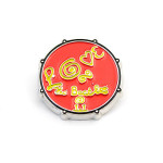The Beatles Love Drum Button - Red