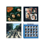 The Beatles Album Cover Wood Magnet Set