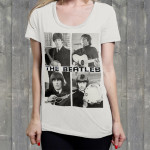 "The Beatles ""Act Naturally"" Ladies' Scoopneck Shirt"