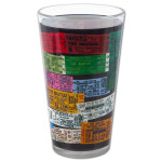 The Beatles Ticket Pint Glass