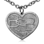 Backstreet Boys Hearts Charm Necklace