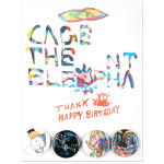 Cage The Elephant Thank You, Happy Birthday Button Set