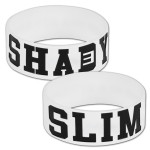 Eminem White Shady Wristband