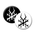 Soundgarden Symbol Button - Black / White