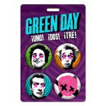 Green Day Faces Button Set