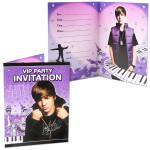 Justin Bieber VIP Party Invitations