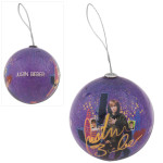 Justin Bieber Purple Ball Ornament