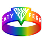 Katy Perry Rainbow Prism Rubber Bracelet