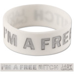 Lady Gaga Free Bitch Rubber Wristband
