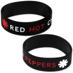 Red Hot Chili Peppers Black Rubber Bracelet