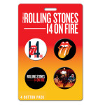 Rolling Stones 14 On Fire Button Pack
