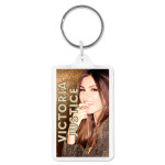 Victoria Justice Gold Photo Acrylic Keychain