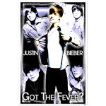 Justin Bieber Black Light Poster